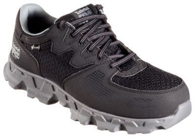 Timberland Pro Powertrain Alloy Toe ESD Work Shoes for Men - Black/Gray - 11.5M
