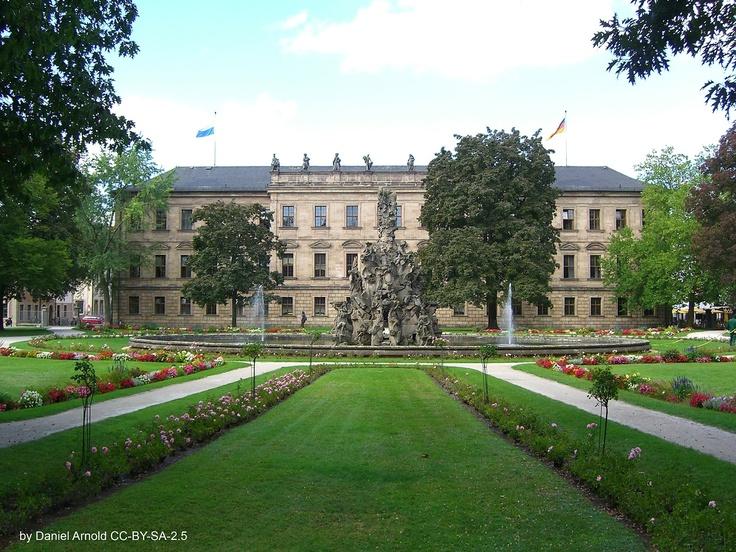 039. Markgräfliches Schloss Erlangen. Germany. Schlossgarten