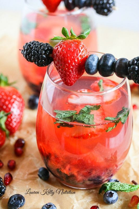 Berry Wine Spritzer - At only 100 calories, this spritzer is simple to make, guilt-free and gorgeous!