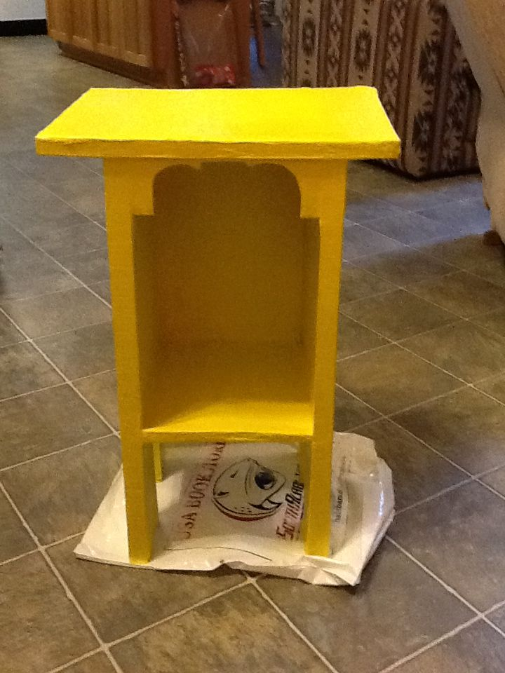 OP says Cardboard nightstand I actually made