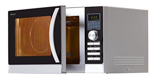Sharp R843INW Micro-onde, 3en 1, 900W: Capacité 25L. Fonction spéciale pizza 900W Puissance. Gril supérieur et inférieur (1200W/500W).…