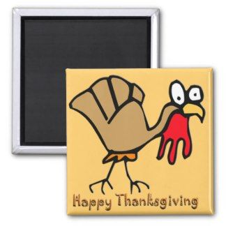 Thanksgiving Turkey Refrigerator Magnet