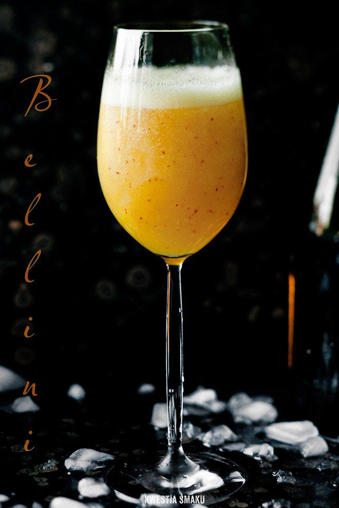 Bellini:   dojrzała Brzoskwinia + 500 ml wina musującegoproseccolub szampana