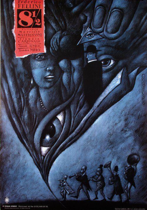 8 and a Half, Fellini, Polish Poster