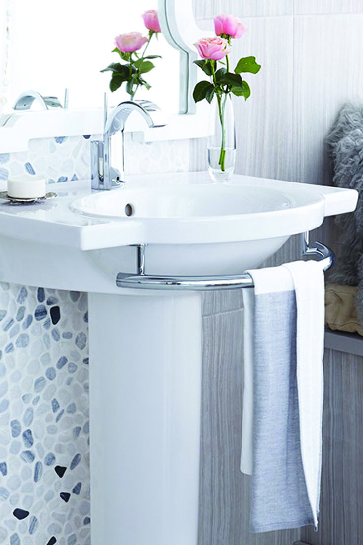 133 Best Images About Powder Rooms On Pinterest Powder Lavatory Faucet And Sconces