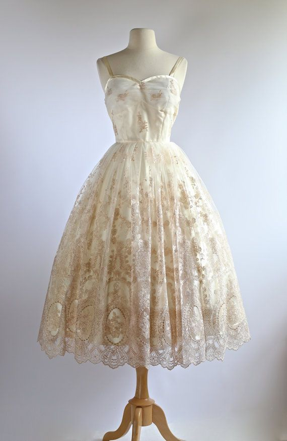 Xtabay Vintage 50s Style Wedding Dress Vintage By