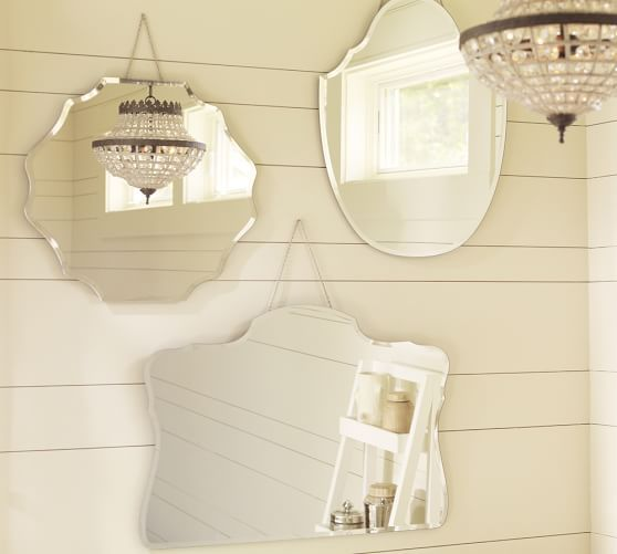 Piper Frameless Mirrors | Pottery Barn