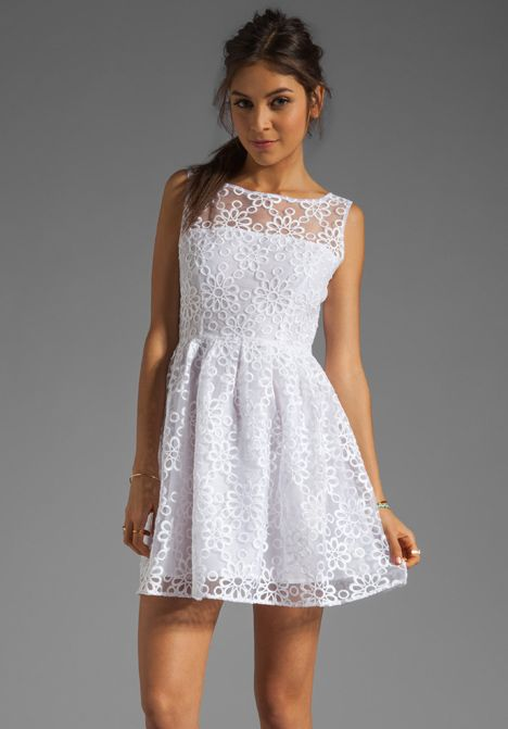BB DAKOTA Huela Organza Embroidered Dress in Optic White at Revolve Clothing - Free Shipping!