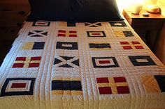I would love a signal flag quilt like this for Bradford's bed someday!
