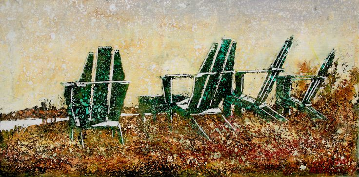 """the horizon 25 (3)  12"""" x 24"""" micheal zarowsky   mixed media (watercolour / acrylic painted directly on gessoed birch panel) available 650.00"""