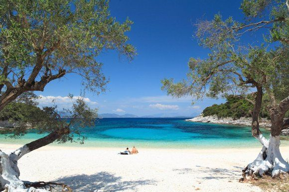 Kimilia beach, Cephalonia. Walkable from fiscardo