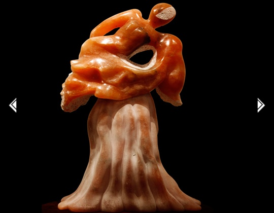 Tree of Life alabaster stone sculpture, by Sharon Gainsburg