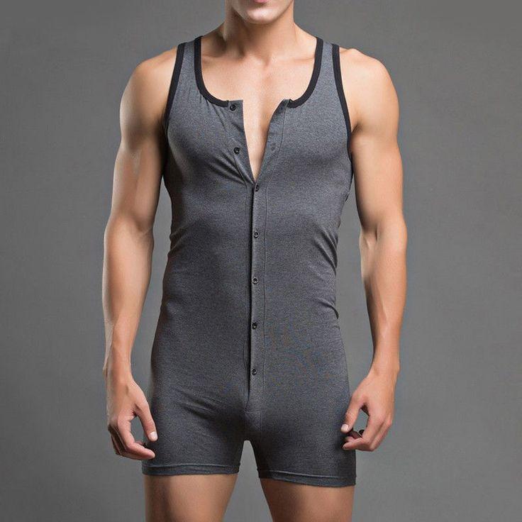 Mens Leotard Bodysuit Sportswer Underwear Fitness Gym Wrestling Singlet Suit AR | eBay