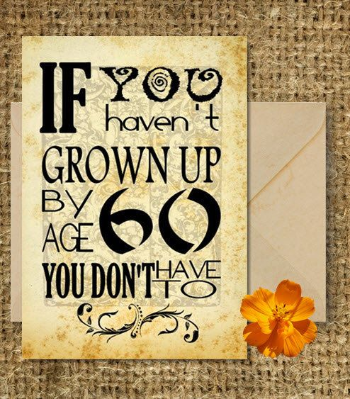 Sayings For 60th Birthday Card