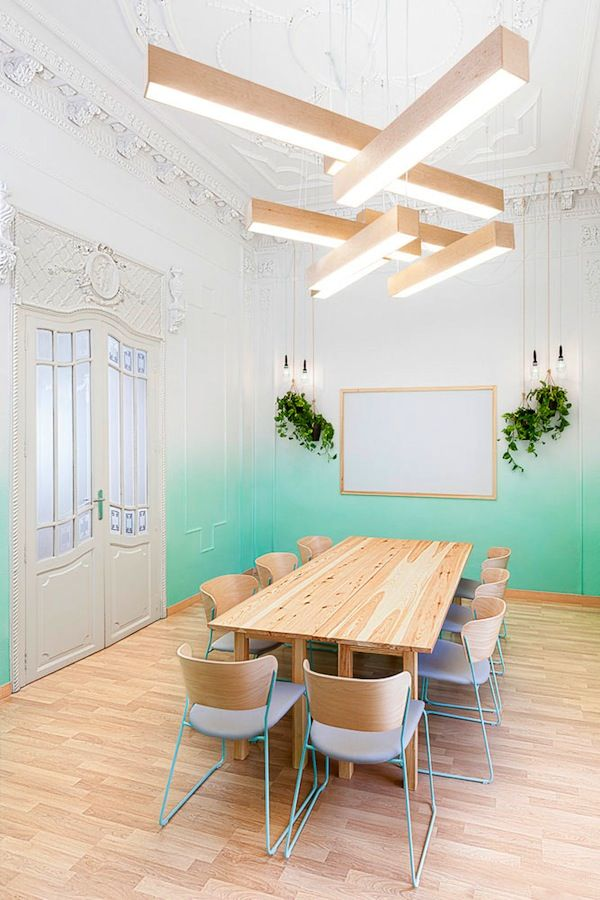 A Valencia school rejuvenated - how fantastic are the painted walls