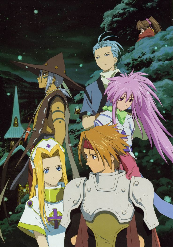 Tales of Phantasia Cless, Mint, Klarth, Chester and Arche