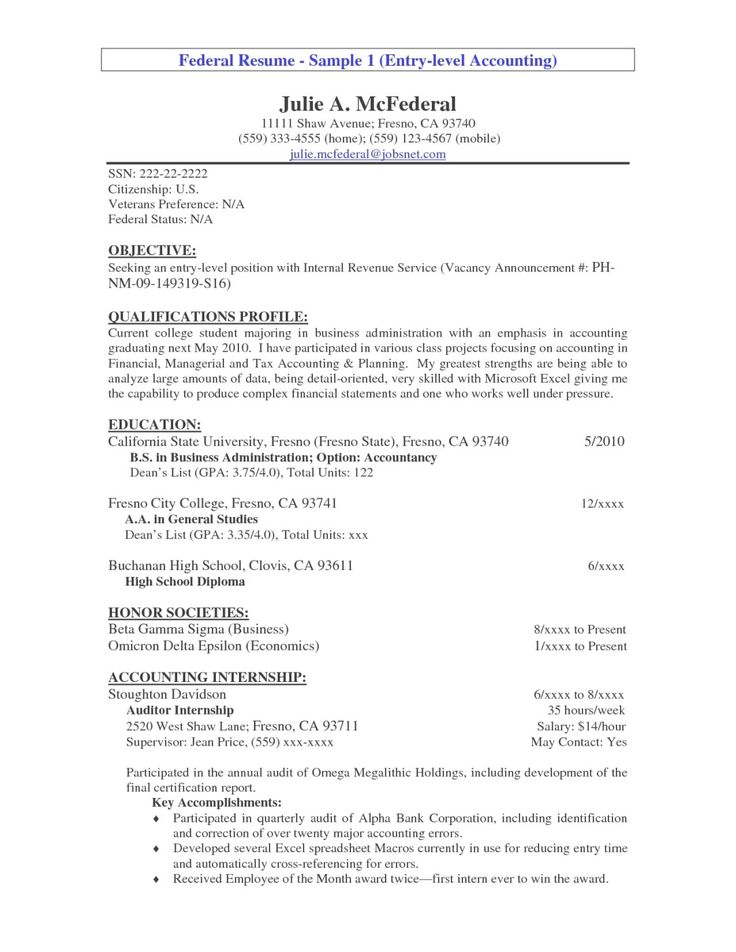 21 best CV images on Pinterest Sample resume, Resume and Resume - accountant resume objective