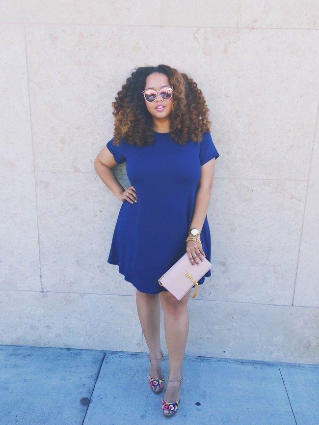 A-Linienkleider sind für mollige Frauen toll