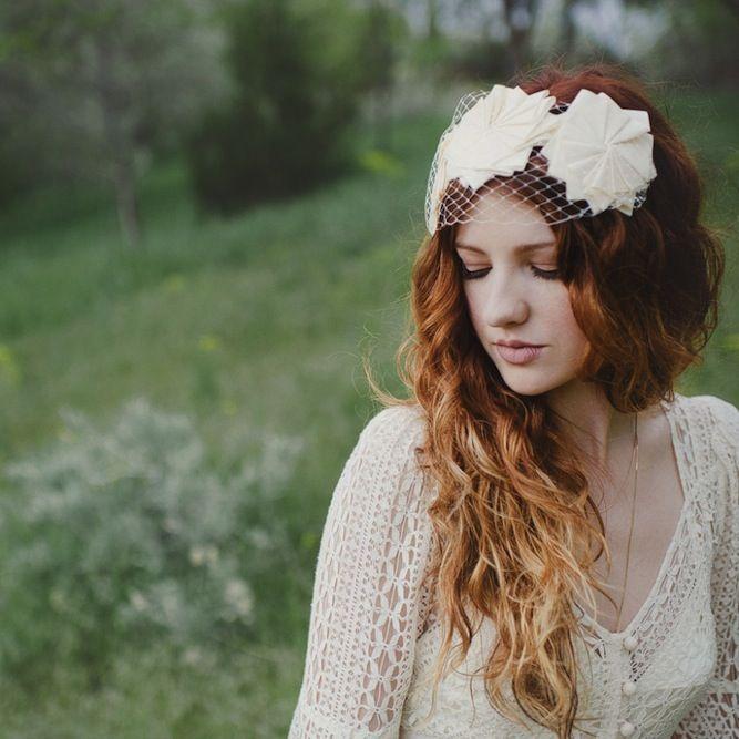 Stunning bride in @BHLDN headpiece & dress http://su.pr/1bOdaU photos by Blush Photography