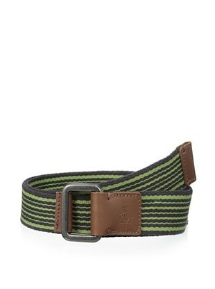 36% OFF Original Penguin Men's Striped Webbed Belt (Licorice)