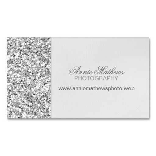 Best 292 silver metallic business card templates images on pinterest glitter look silver business card reheart Choice Image