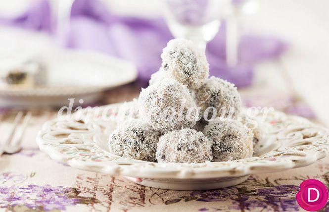 Τρουφάκια με μπισκότα σοκολάτας και ινδοκάρυδο | Dina Nikolaou