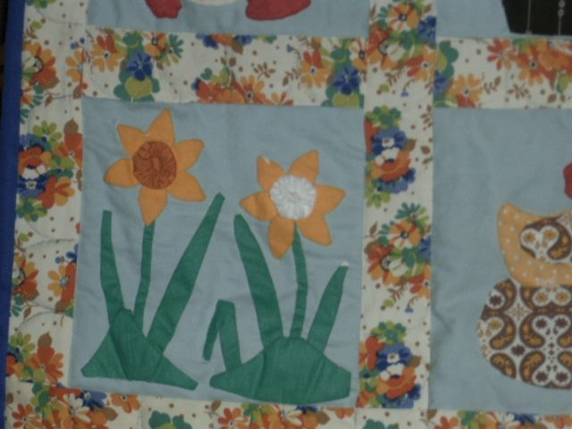 Patchwork Wall Quilt for Easter