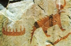 The pictographs at Agawa Bay