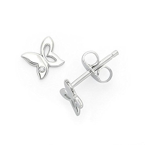 Little Diva Diamonds Sterling Silver Diamond Accent Butterfly Earrings  http://stylexotic.com/little-diva-diamonds-sterling-silver-diamond-accent-butterfly-earrings/