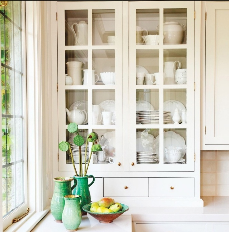 Pretty cabinet styling via House and Home