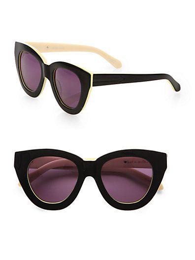 Anytime Cat's-Eye Acetate Sunglasses by: Karen Walker