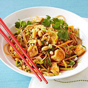 Spicy Thai Noodles With Tofu recipe
