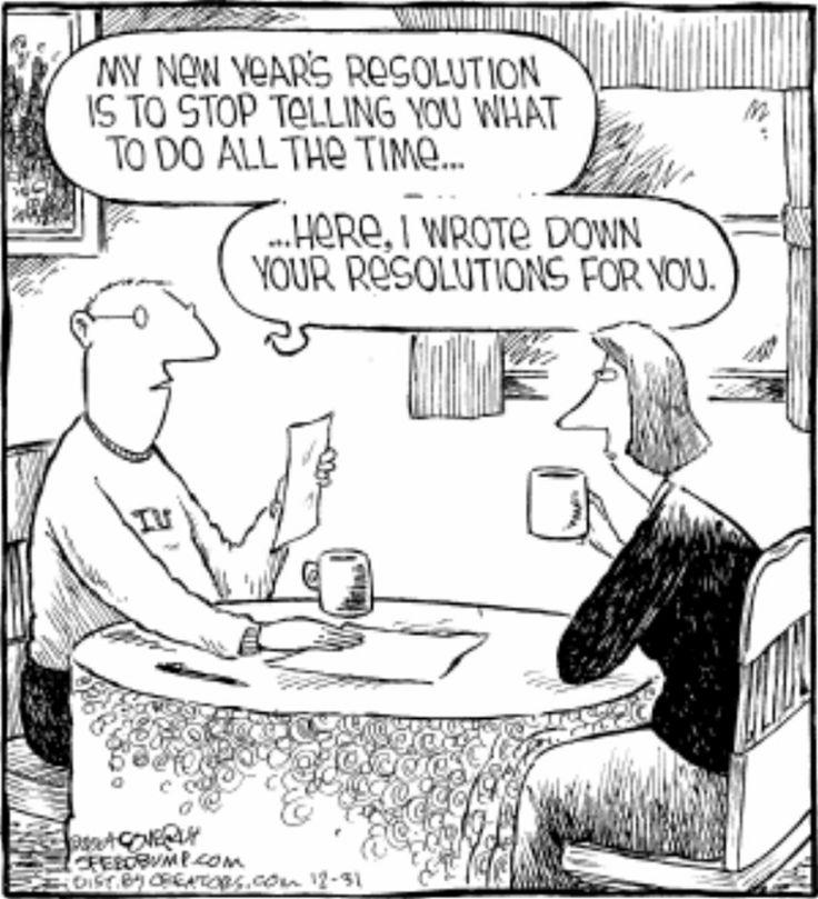 New Yearu0027s Humor: New Yearu0027s Eve Resolutions.