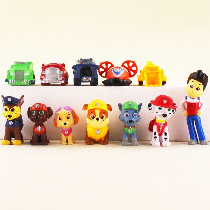 12pcs/lot Canine Patrol Dog Toys Russian Anime Doll Action Figures Car Patrol Puppy Ryder Toy Patrulla Canina  #Affiliate