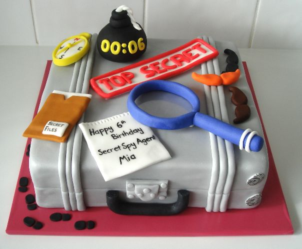 Spy themed birthday cake - Catherine's Cakes Perth