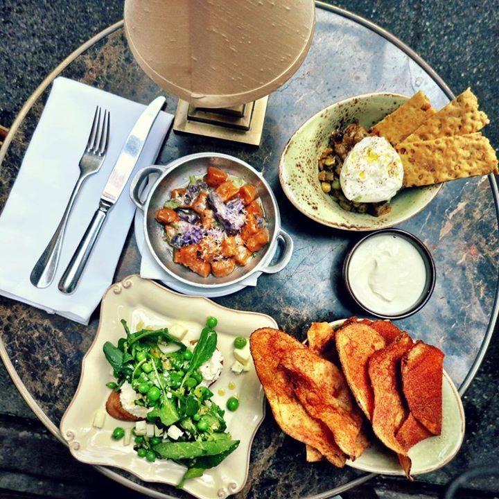 eggplant caponata sweet potato gnocchi greek yogurt dips bbq potatoes ...