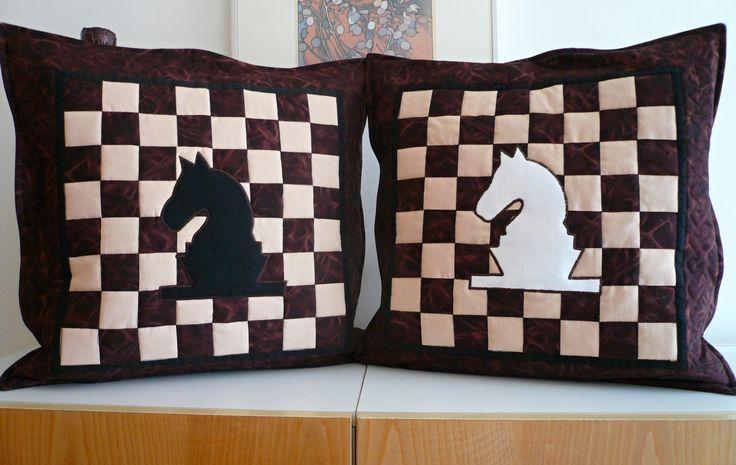 šachové polštářky