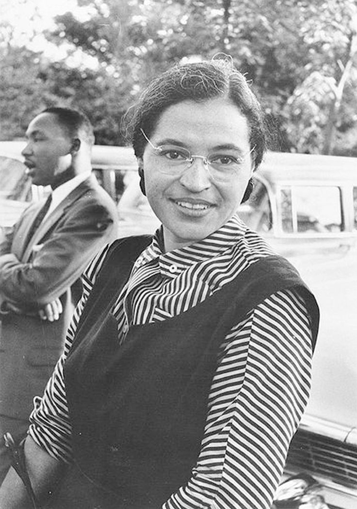 Rosa Parks (can you see Dr King in the background?)