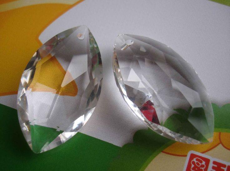 40 шт./лот 76 мм Прозрачный Сталкиваются Регби форма люстра кристалл подвеска лампа люстра частей освещение аксессуары