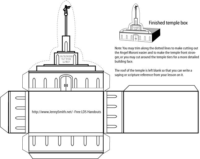 Temple Box - download LDS printables, object lessons, activity ideas, and teaching tips at Mormon Share.