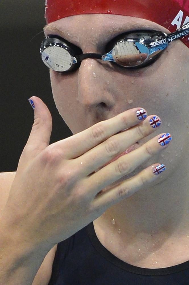 Swimmer Rebecca Adlington of Great Britain