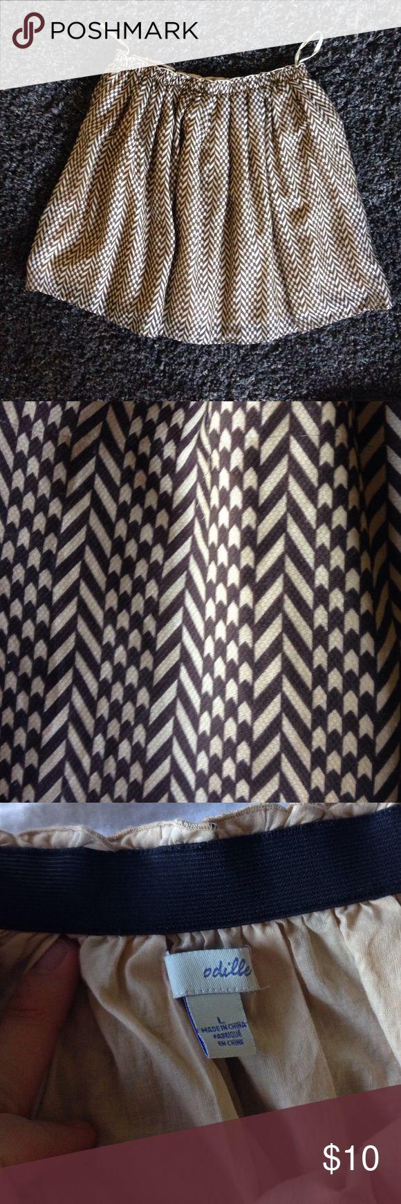 Anthropologie chevron skirt Anthropologie chevron skirt, garterized waist band. Brand is Odille Anthropologie Skirts A-Line or Full