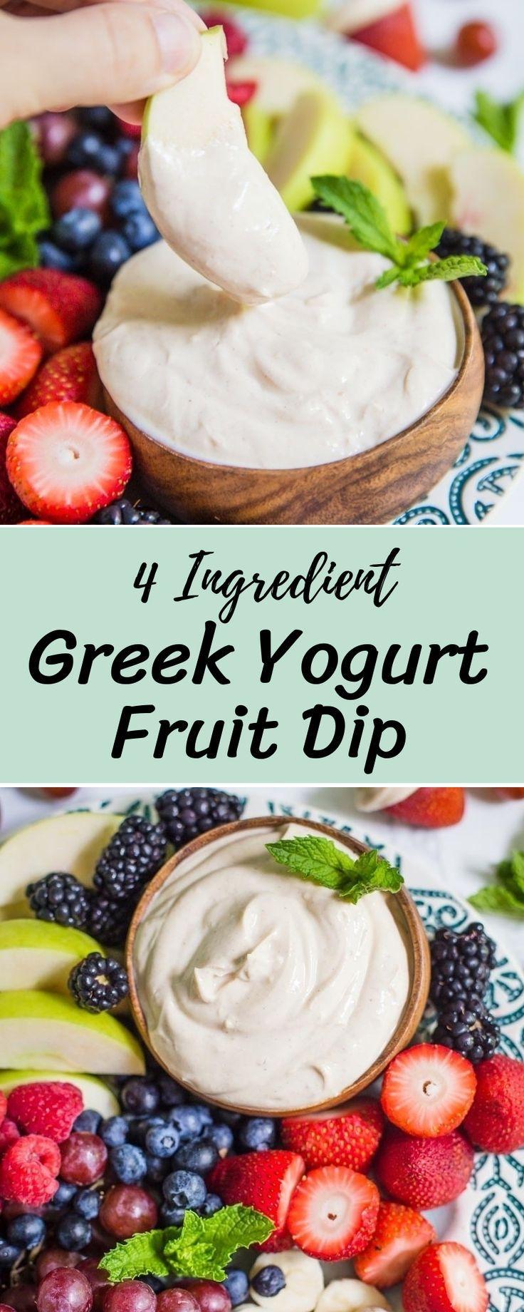 4 Ingredient Greek Yogurt Fruit Dip Recipe Greek Yogurt Recipes Fruit Dips Recipes Greek Yogurt Fruit Dip