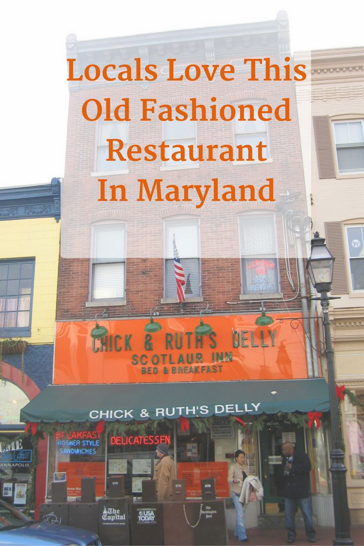Chick & Ruth's has been around for decades. See why Marylanders love this old fashioned and friendly eatery. #maryland #marylandrestaurant