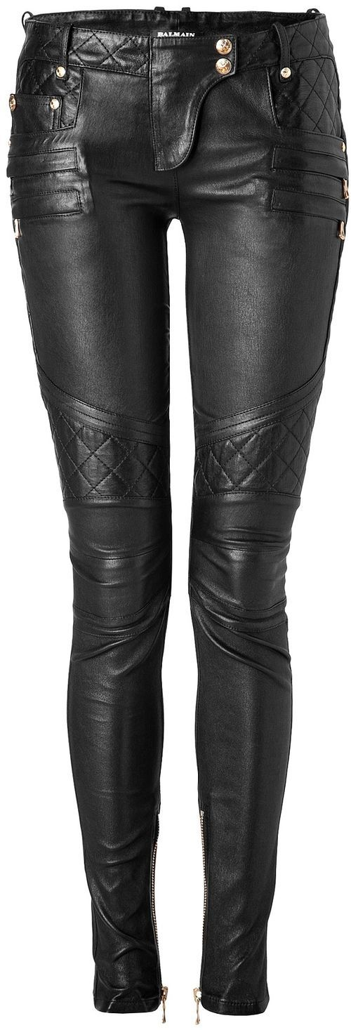my one fantasy clothing item:  Balmain leather motorcycle pants