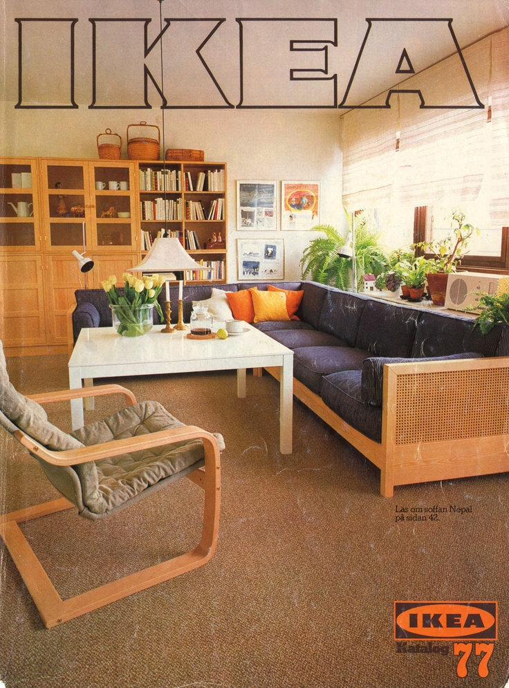 IKEA Catalog CoversThrough The Years We Love All Greenery And Seating Space In This Family Room On 1977 Cover