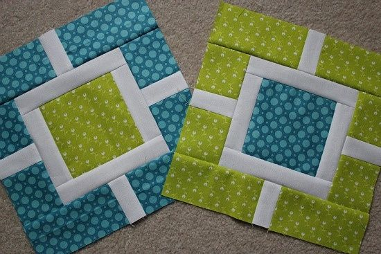 This quilt only uses three different fabrics and the shown blocks..