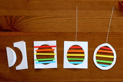 kv barn: paper egg silhouettes. could be used with other shapes, or mobile.