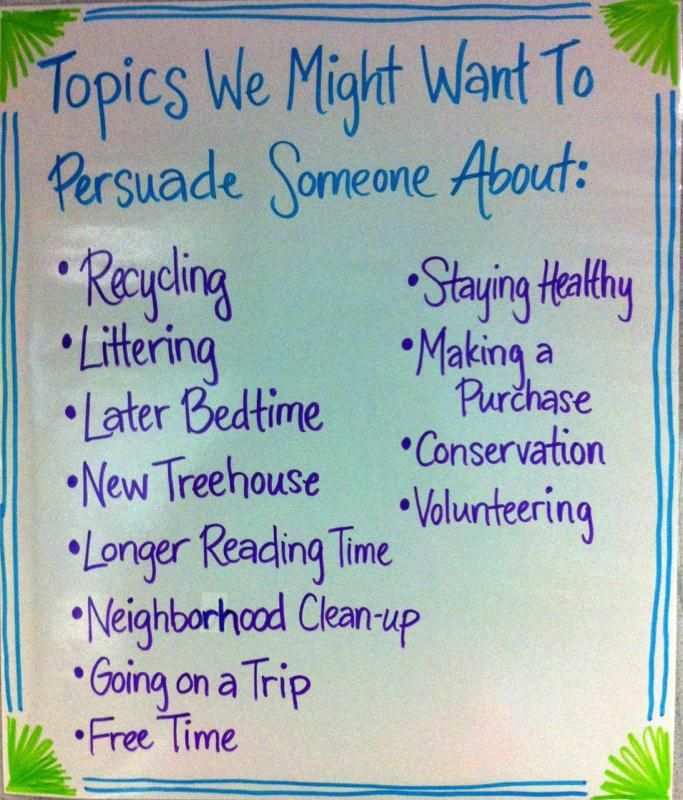 What are some good topics for a persuasive essay?