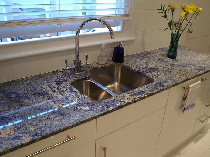 azul bahia granite kitchen countertop